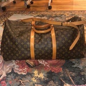 LOUIS VUITTON EUC LARGE TRAVEL BAG WITH STRAP